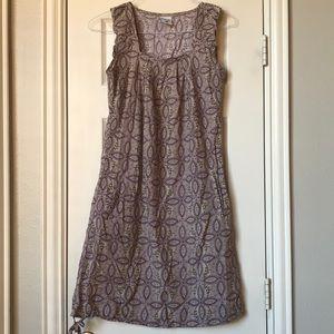 Columbia purple paisley sleeveless dress w/pockets